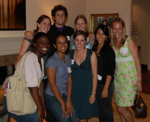 Young alums in Atlanta: Tosin Adeyanju '08, Emily Flynn '09 (me), Jason Kohn '08, Kara Brothers '07, Denise McCulloch '08, Jen Bees '08, and Courtney Bartlett '06